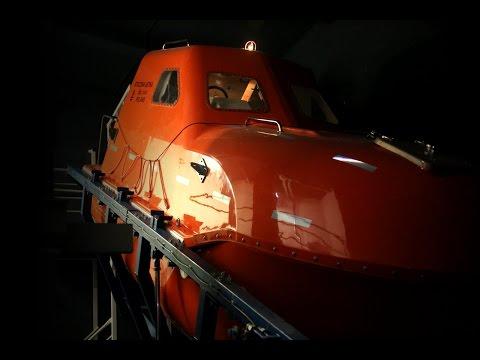 Free Fall Lifeboat Training - Gdynia Maritime School
