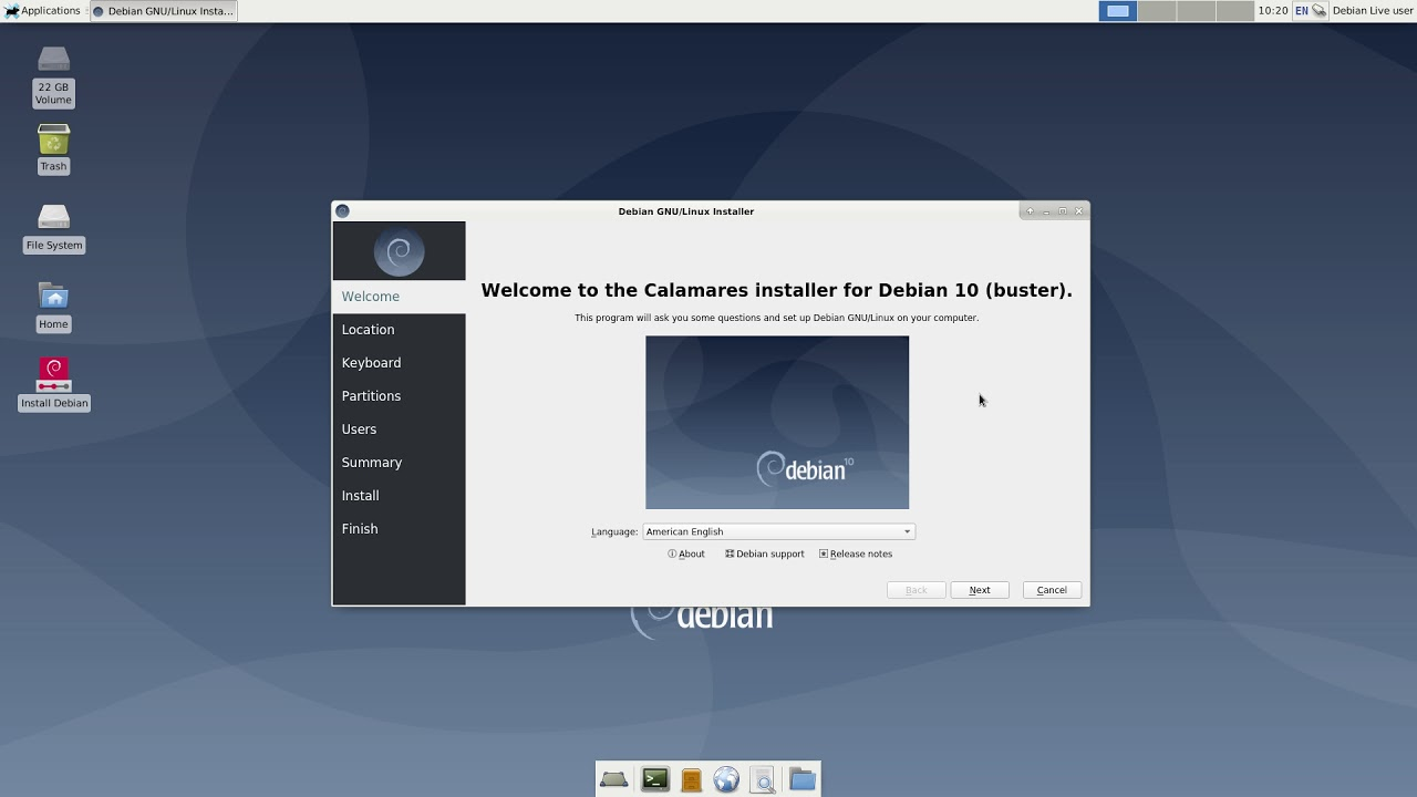 Checking out Debian 10 Buster xfce