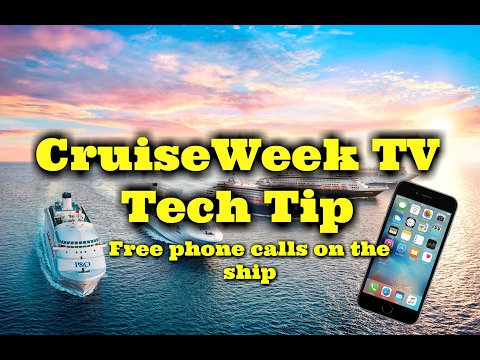 Cruise Tech Tip - free phone calls/Texts on the ship to your same number