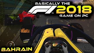 BASICALLY THE F1 2018 GAME ON PC | F1 Bahrain 2018 Race on Assetto Corsa (Gameplay)