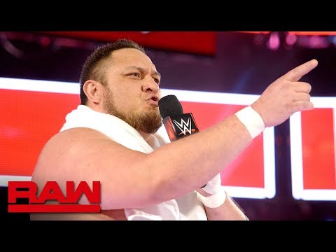 Samoa Joe looks to pick a fight with Roman Reigns at WWE Backlash: Raw April 9, 2018