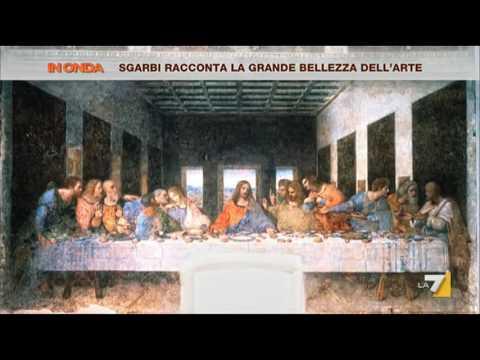 Vittorio Sgarbi spiega il Cenacolo: 'Cristo è senza San Giovanni 'lo stalker''