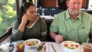 Amtrak Texas Eagle Dining Car Tour & Menu Review - First Class Train Travel - Food Not Amtrack Acela