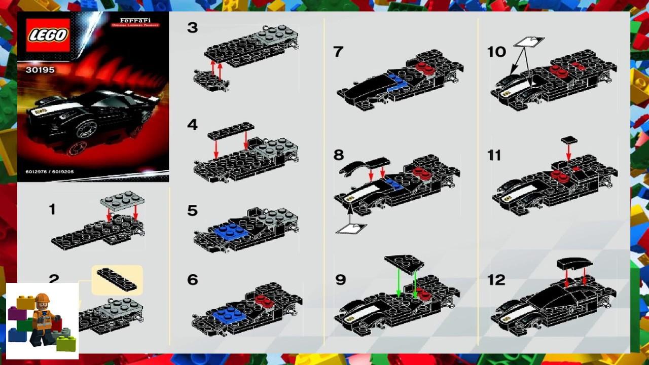 Lego Instructions Racers Ferrari 30195 Fxx Youtube