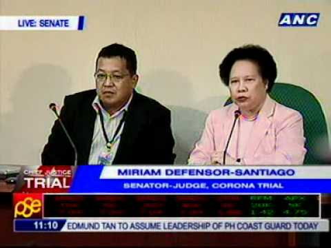 Sen. Miriam Santiago holds press conference on #CJontrial