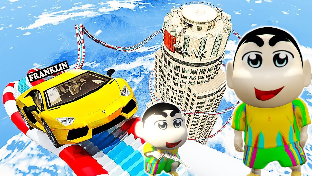 GTA 5 : SHINCHAN AND FRANKLIN STEP ON FIRE SPIKES DO AND DIE CHALLENGE ! (GTA 5 mods)