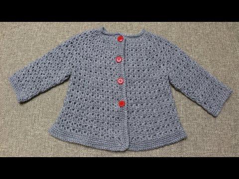 Sueter de 9 a 12 meses Crochet parte 1 de 2 - YouTube