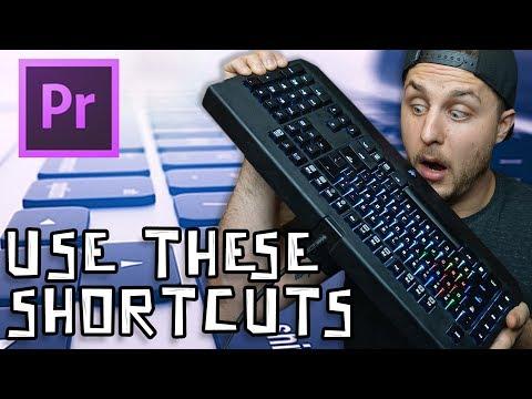 Adobe Premiere Tutorial - Keyboard Shortcuts