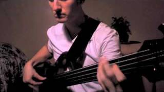 Brady Watt - Bach Invention 4 in D Minor on Fretless Bass