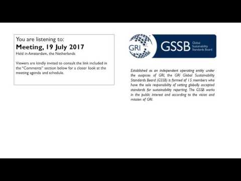 GSSB GRI Meeting 19 July 2017