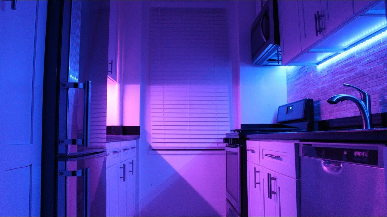 led strip light install under cabinet led lighting