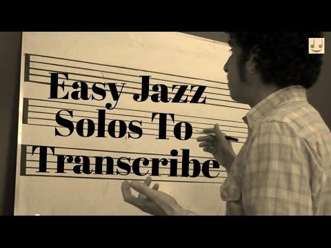 Easy Jazz Solos To Transcribe - YouTube