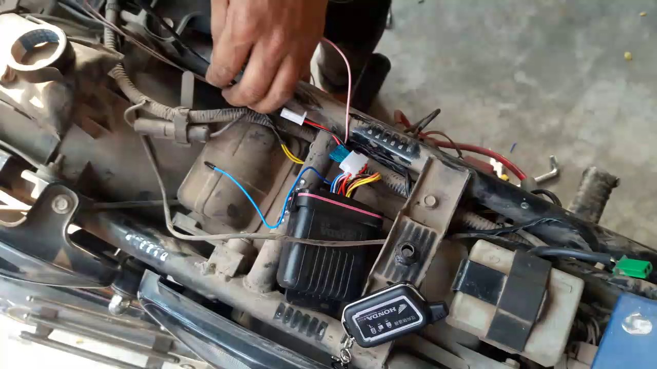 hight resolution of how to install anti theft alarm for all bikes remote start installation