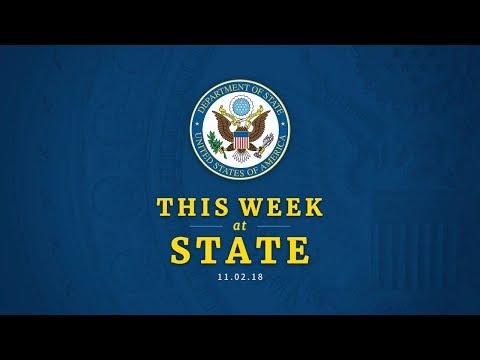 This Week at State: November 2, 2018