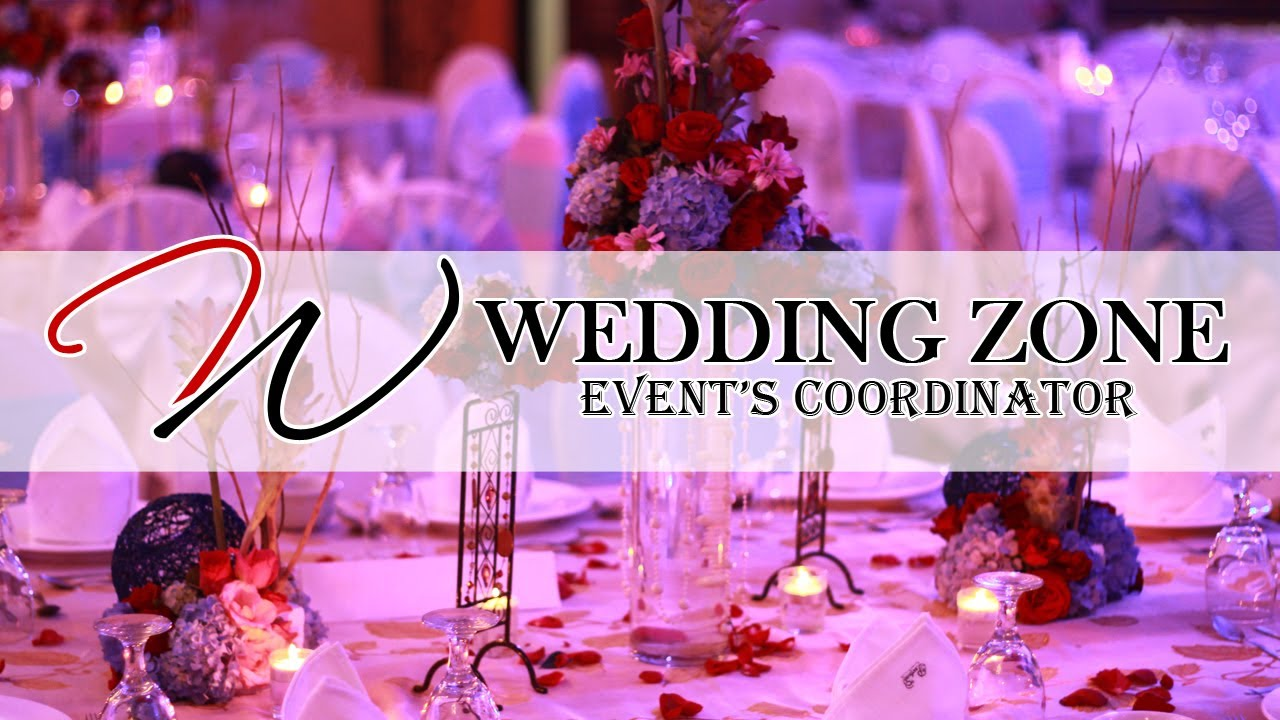 Wedding Zone Event's Coordinator Video Presentation  Youtube