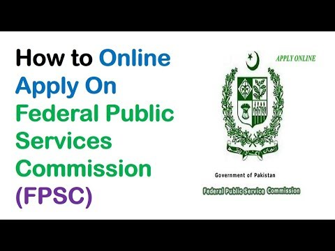 How to Online Apply On Federal Public Services Commission