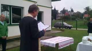 Irodaavató Letenye - Aigner Géza plébános