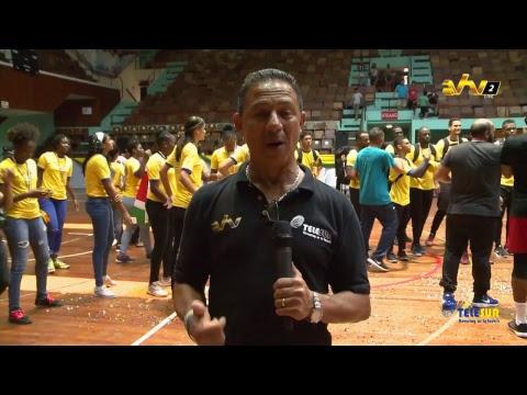 volleybal wk warming up finale : Suriname - Trinidad