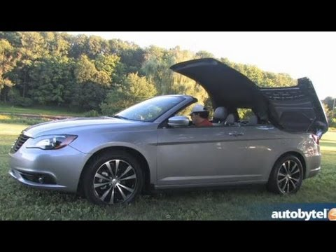 2017 Chrysler 200s Convertible V6 Test Drive Entry Level Luxury Car Video Review