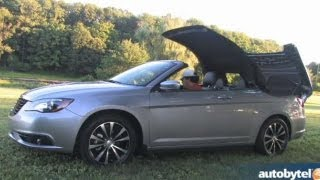 2013 Chrysler 200S Convertible V6 Test Drive & Entry-Level Luxury Car Video Review
