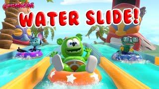 Gummibär Water Slides POV Video