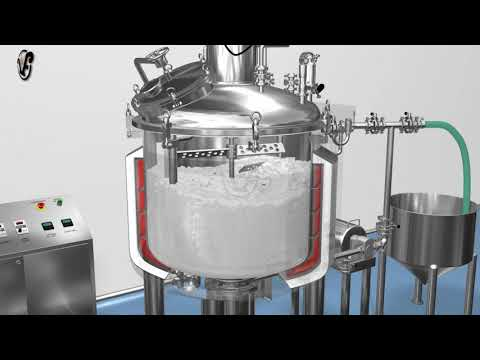 animation Ointment Manufacturing Vessel