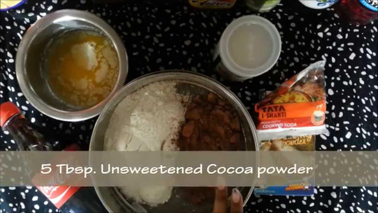 Eggless Chocolate Cake Using Coca Cola