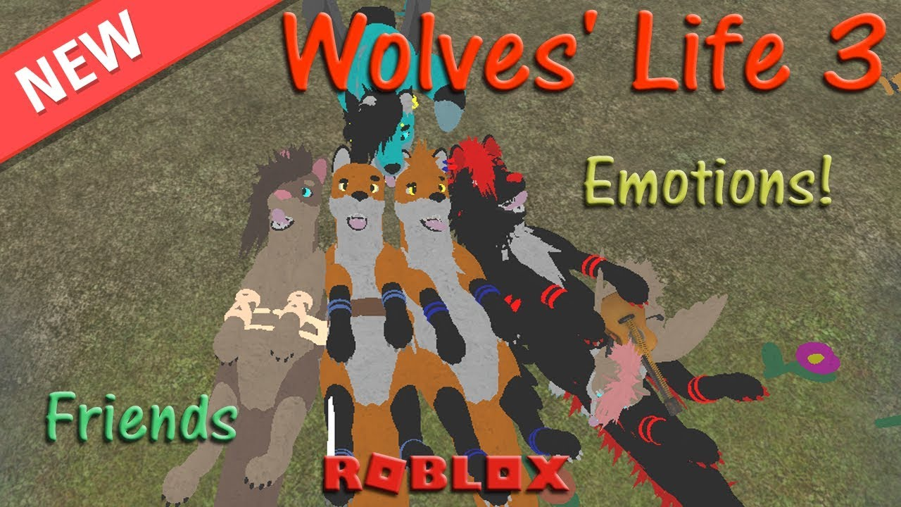 Roblox Wolves Life 3 Emotions Friends 4 Hd By Reynardfoox
