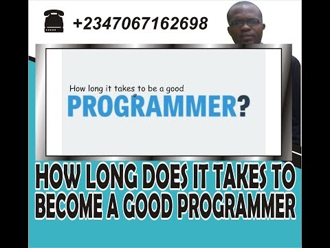 How long does it take to become a good Programmer