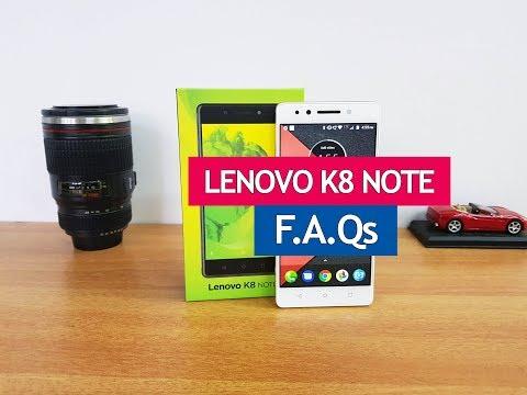Lenovo K8 Note FAQs-  Sensors, VoLTE, Turbo Charging, SOT, O