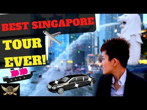 SINGAPORE VLOG + LIMOUSINE RIDE ! | MARINA BAY SANDS FOUNTAIN | Karen Trader Vlog 016