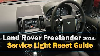 Land Rover Freelander Service Light Reset 2014-(This rather unusual method to reset the service light explained as best I can :) Its for the Land Rover Freelander 2014-. Please press the like button if it was ..., 2016-04-29T12:59:36.000Z)