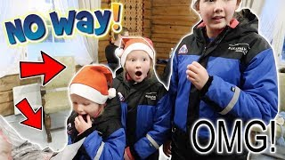 SISTERS GET THE SHOCK OF THEIR LIVES FROM SANTA IN LAPLAND!