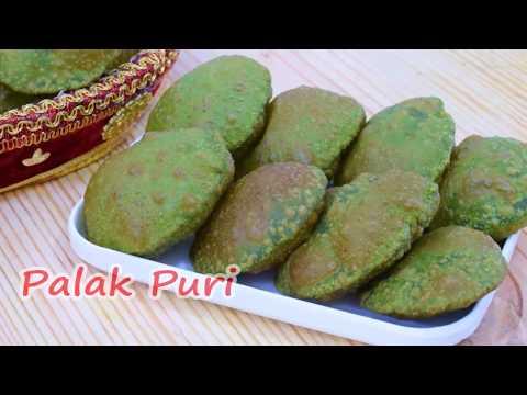 पालक पूरी (इस तरह से बनाये)-palak poori-palak puri recipe in hindi-palak puri by shalini kitchen