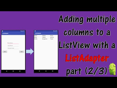 Adding multiple columns to your ListView (part 2/3)