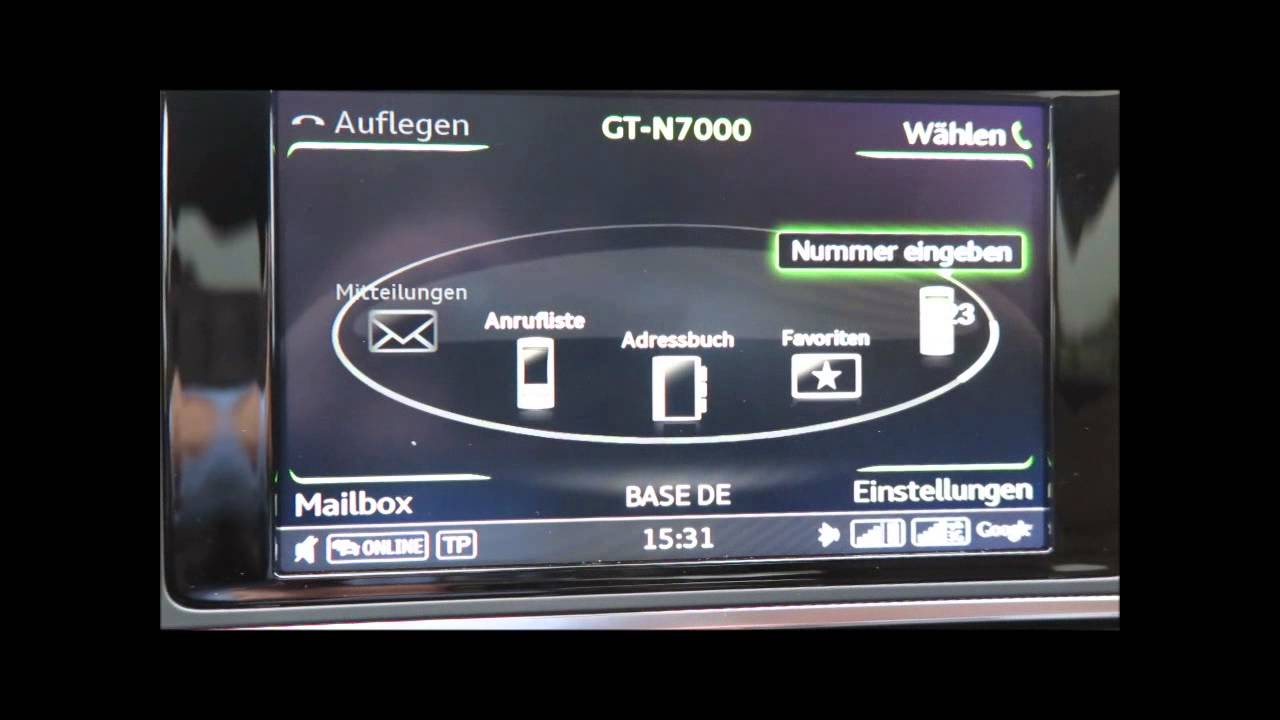 Audi A6 Mmi Plus Telefon Facelift 2014 Youtube