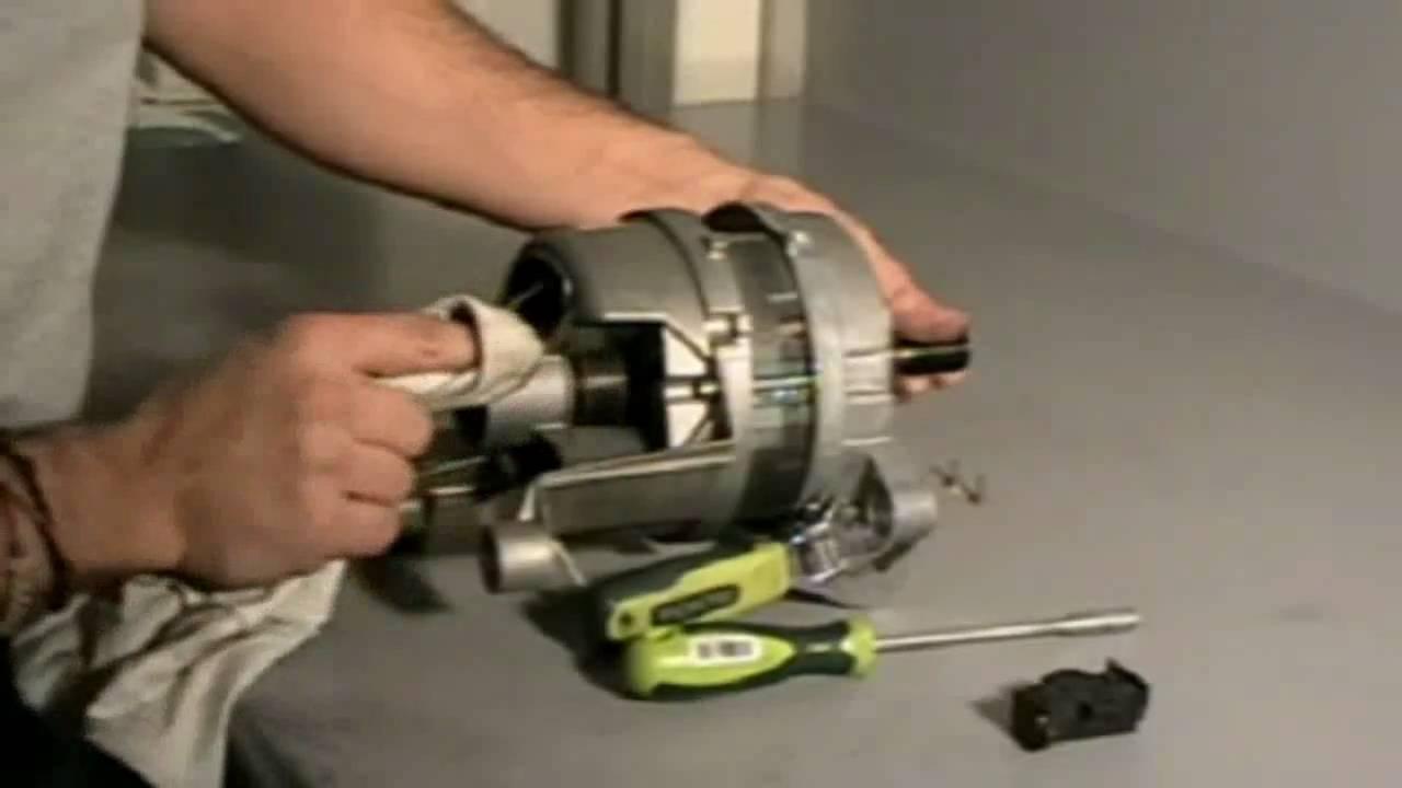 Cambio De Escobillas Motor Lavadora Youtube