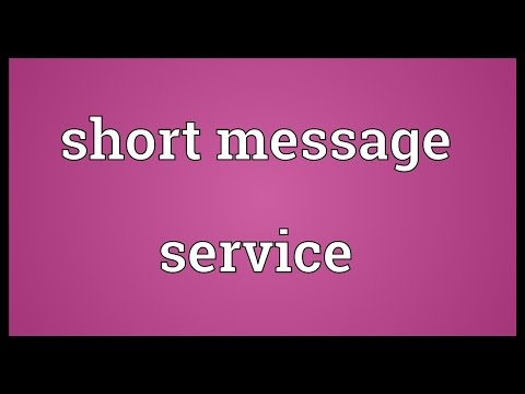 Short message service Meaning