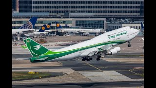 الخطوط الجوية العراقية / لا تفوتك متعة مشاهدة الطائرالعراقي الاخضر بوينغ 747