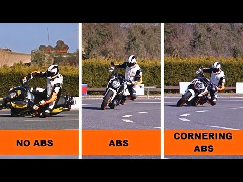 KTM - ABS and Cornering ABS Explained   Motorcycle Stability Control