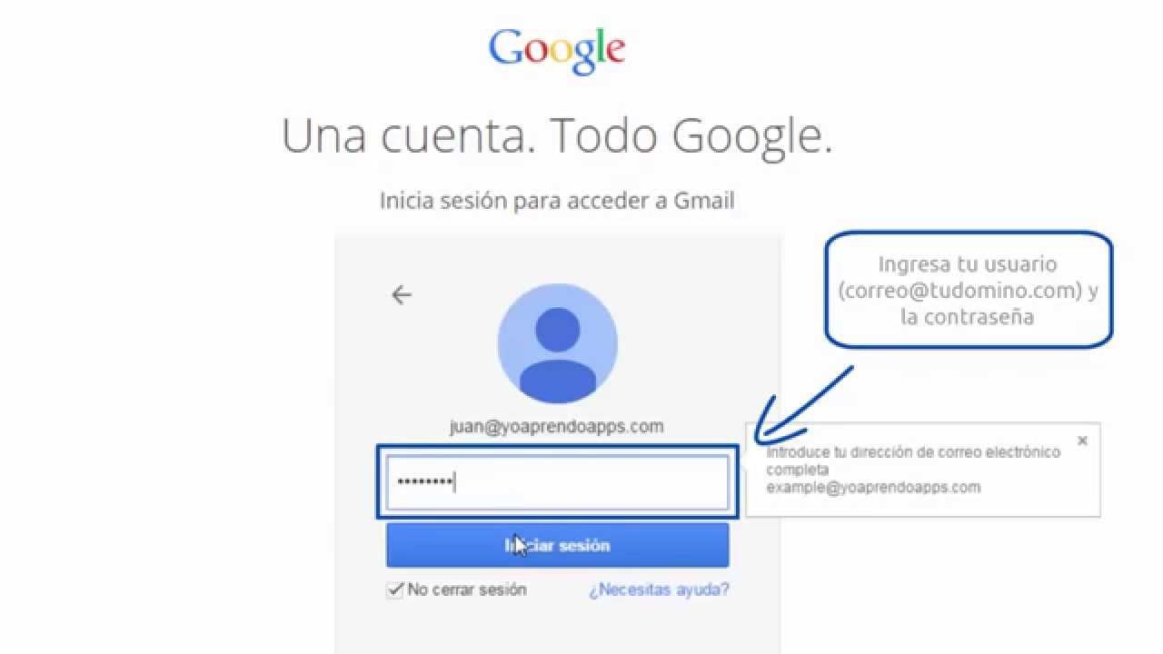 Cómo Inicio Sesión En Mi Correo Electrónico Gmail Youtube