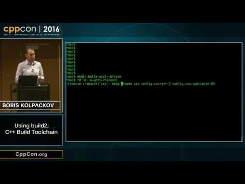 "CppCon 2016: Boris Kolpackov ""Using build2"