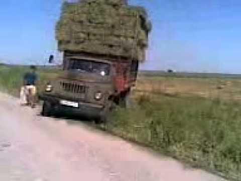 Упал грузовик