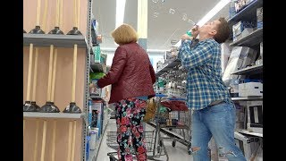 Bubbling By Blowing Big Bubbles (on people at Walmart)