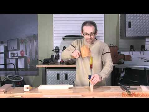how to cut tenons for log furniture