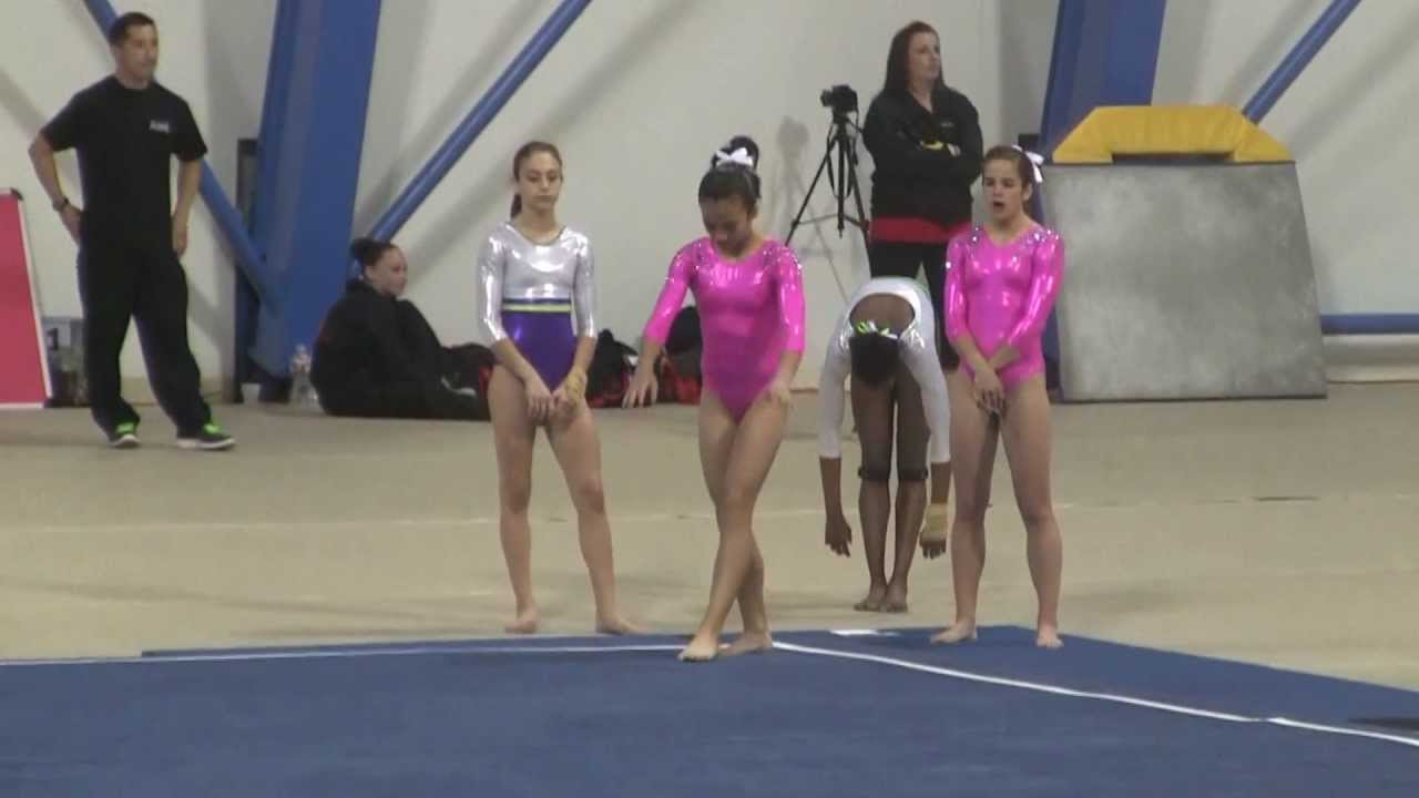 gymnastic junior USA Gymnastics Jr Olympic 2013 So Cal Level 9 State Championships Floor,  Trisha Raquel 1st Place - YouTube