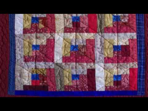 Log Cabin Quilt Examples Basic Machine Quilting Youtube
