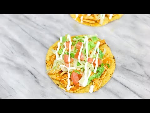 Chicken Tostadas - Chicken Tinga Recipe - Tinga de Pollo