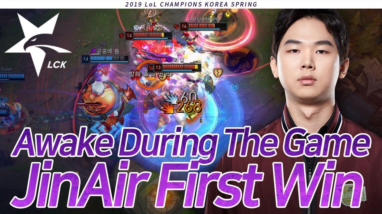 Awake During The Game, Jinair First Win : JAG vs GEN [2019 LCK Highlight] Match20 Game2