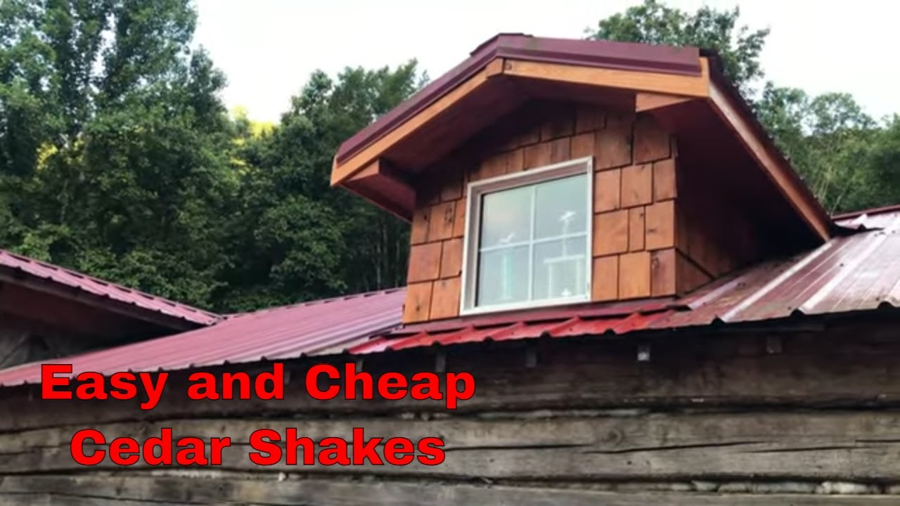 Cedar Shakes on Dormers.. Easy Trick for Cutting!!